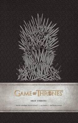 Game of Thrones: Iron Throne Hardcover Ruled Journal