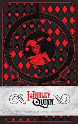 Harley Quinn Hardcover Ruled Journal