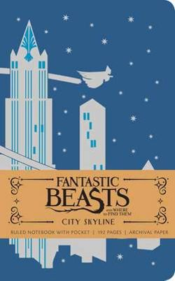 Fantastic Beasts and Where to Find Them: City Skyline Hardcover Ruled Notebook