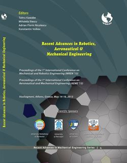 Recent Advances In Robotics Aeronautical And Mechanical Engineering