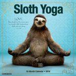 Sloth Yoga 2018 Wall Calendar