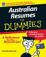 Australian Resumes For Dummies(R)