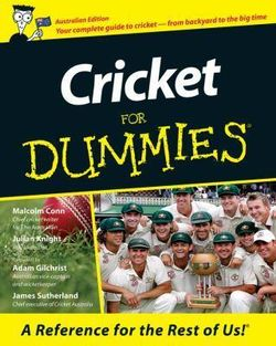 Cricket For Dummies<sup> (R)</sup>