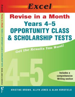 Excel Revise In A Month Opportunity Class & Scholarship Tests