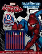 The Amazing Spider-Man Black Paper Colouring Book (with Crayons)