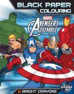 Marvel Avengers Assemble Black Paper Colouring