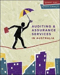 Auditing & Assurance Services In Australia 7th Edition