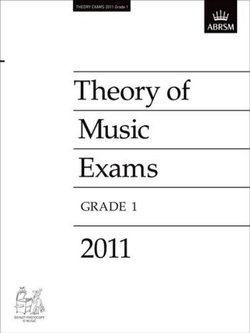 Theory of Music Exams 2011