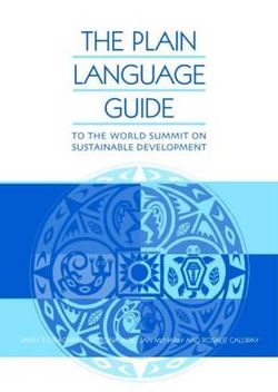 The Plain Language Guide to the World Summit on Sustainable Development