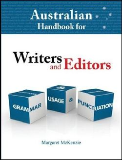 Australian Handbook for Writers and Editors