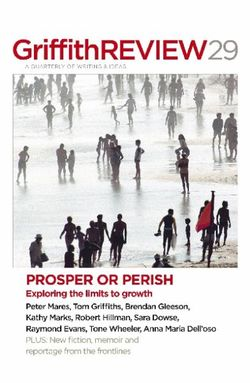 Griffith Review 29: Prosper or Perish: Exploring the Limits to Growth
