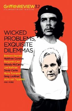Griffith Review 32: Wicked Problems, Exquisite Dilemmas