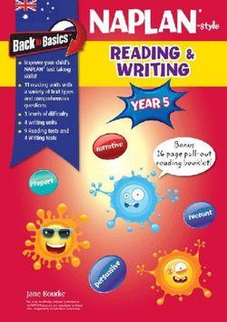 Back to Basics - Naplan-style Reading and Writing Year 5