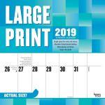 Large Print 2019 Square Wall Calendar