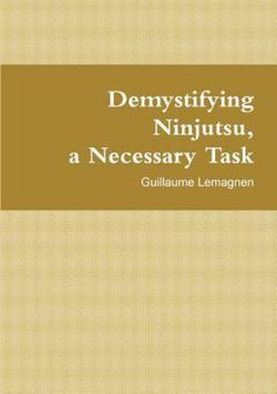 Demystifying Ninjutsu, a Necessary Task