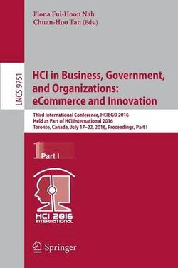 HCI in Business, Government, and Organizations - eCommerce and Innovation