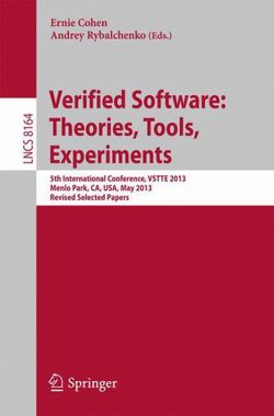 Verified Software: Theorie, Tools, Experiments