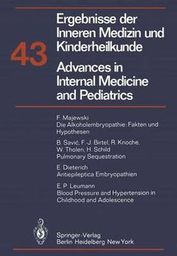 Advances in Internal Medicine and pediatrics/Ergebnisse der Inneren Medizin und Kinderheilkunde