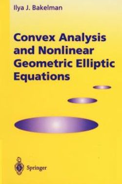 Convex Analysis and Nonlinear Geometric Elliptic Equations