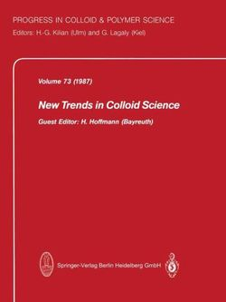 New Trends in Colloid Science