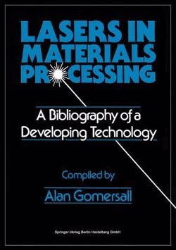 Lasers in Materials Processing
