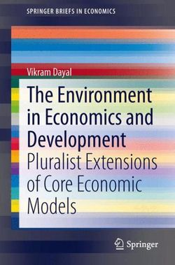 The Environment in Economics and Development