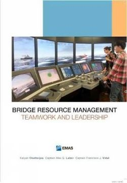Bridge Resource Management : Teamwork and Leadership