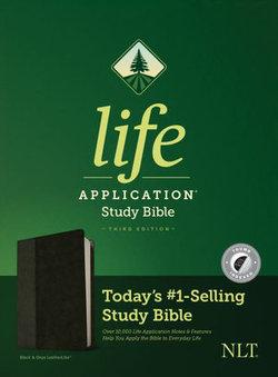 NLT Life Application Study Bible, Third Edition (LeatherLike, Black/Onyx, Indexed)