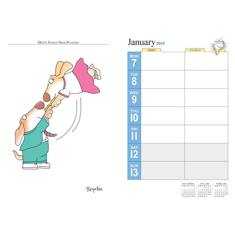 2019 Moms Family Desk Calendar Wall Calendar Angus Robertson