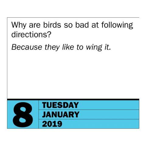 280 Bad Jokes & 85 Punderful Puns Page-A-Day Desk Calendar